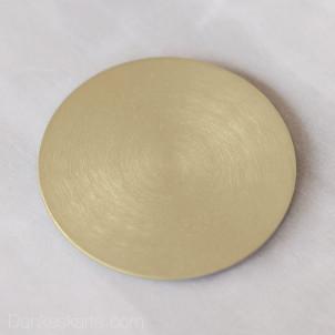 Kerzenteller Aluminium gebürstet gold rund Ø10cm