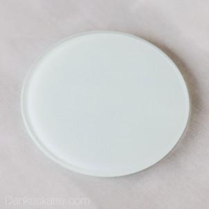 Kerzenteller Glas rund Ø10cm