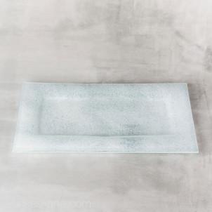 Kerzenteller Glas 29x15cm