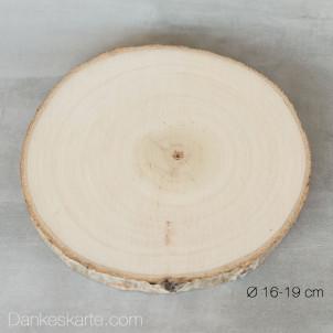 Kerzenteller Holzscheibe gross Ø16-19cm