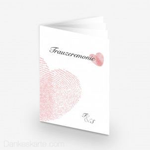 Kirchenheft Fingerprint 15 x 21 cm