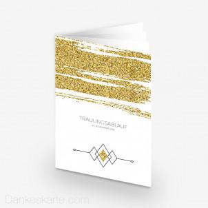 Kirchenheft Golden Glitter 15 x 21 cm