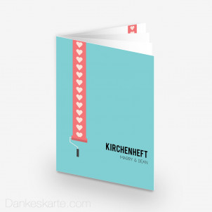 Kirchenheft Love Letter 15 x 21 cm