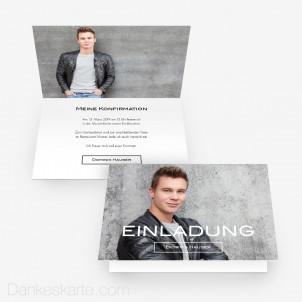 Konfirmationskarte Schlicht Schön 15 x 10 cm Vertikalklappkarte