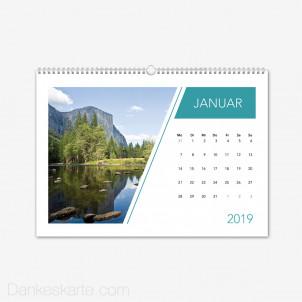 Fotokalender Linienführung Querformat