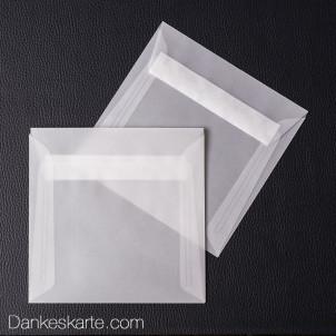 Kuvert transparent für 14.5 x 14.5 cm
