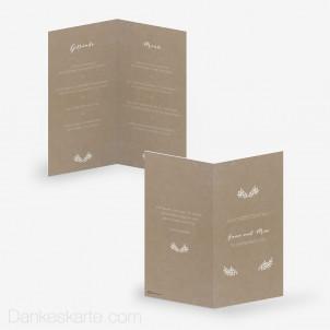 Menükarte Kraftpapier Eleganz 10 x 21 cm