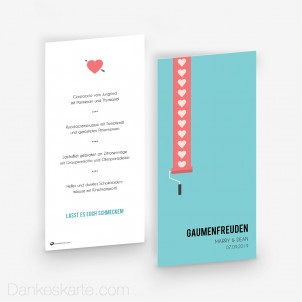 Menükarte Love Letter 10 x 21 cm