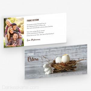 Osterkarte Ostergrüße 21 x 10 cm