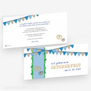 Partyeinladung Aufbrezeln 21 x 10 cm