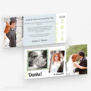 Dankeskarte Picture Frame 21 x 10 cm