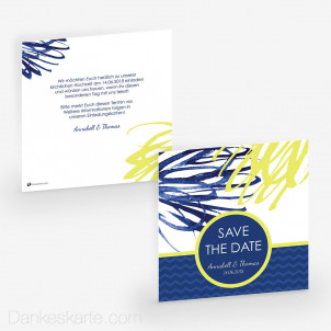 Save-the-Date Blaue Lagune 14.5 x 14.5 cm