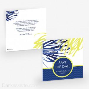 Save-the-Date Blaue Lagune 14.5 x 14.5 cm