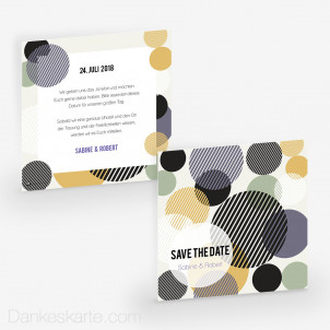 Save-the-Date Bubbles 14.5 x 14.5 cm