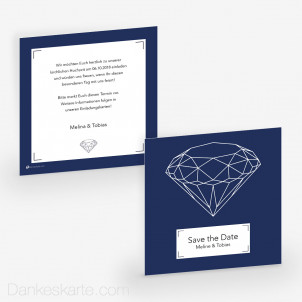Save-the-Date Diamant 14.5 x 14.5 cm