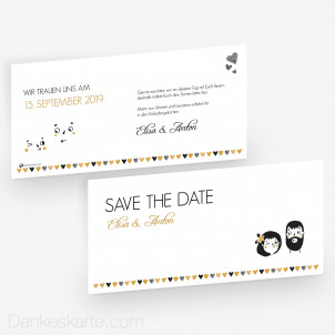Save-the-Date Dreamteam 21 x 10 cm