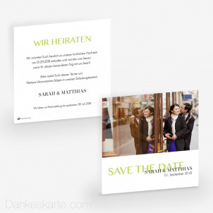 Save-the-Date Easy Three 14.5 x 14.5 cm