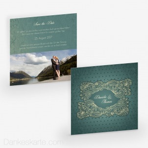 Save-the-Date Floral Lace 14.5 x 14.5 cm