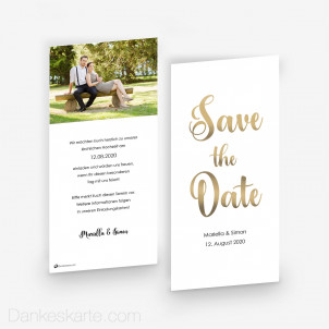 Save-the-Date Glanzvoll 10 x 21cm