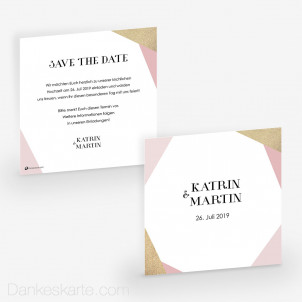 Save-the-Date Golden Coral 14.5 x 14.5 cm