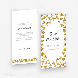 Save-the-Date Goldschimmer 2 10 x 21 cm