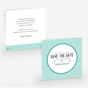 Save-the-Date Klare Formen 14.5 x 14.5 cm
