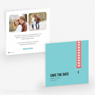 Save-the-Date Love Letter 14.5 x 14.5 cm