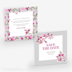 Save-the-Date Magnolie 14.5 x 14.5 cm