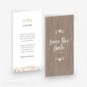 Save-the-Date Naturgetreu 10 x 21 cm