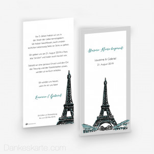 Save-the-Date Pariser Chic 10 x 21 cm