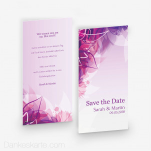 Save-the-Date Pinke Versuchung 10 x 21 cm