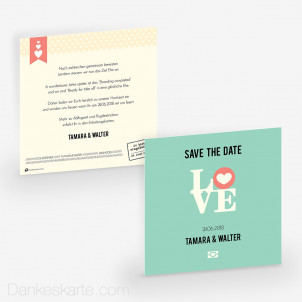 Save-the-Date Reisepass 14.5 x 14.5 cm