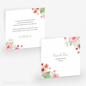 Save-the-Date Total Floral 14.5 x 14.5 cm