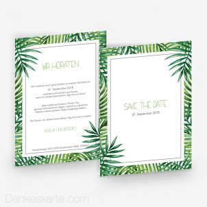 Save-the-Date Tropical 15 x 21 cm