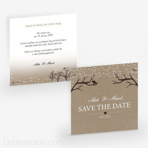 Save-the-Date Verschneit 14.5 x 14.5 cm