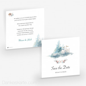 Save-the-Date Winterzauber 14.5 x 14.5 cm