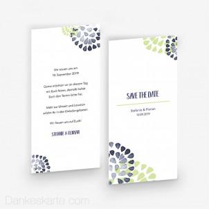 Save-the-Date Zarte Blüten 10 x 21 cm