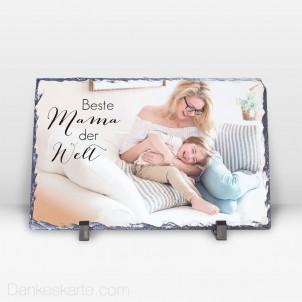 Fotoaufsteller Beste Mama aus Stein 29 x 19 cm