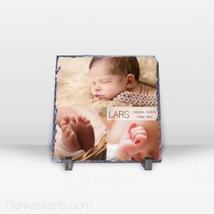 Geburtstafel Bilderreich aus Stein 19 x 19 cm