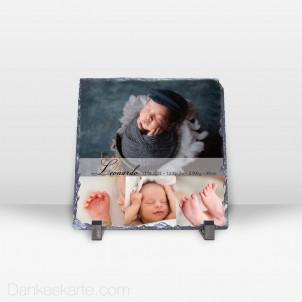 Geburtstafel Lolith aus Stein 19 x 19 cm