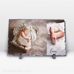 Geburtstafel Zeitlos Schön aus Stein 29 x 19 cm