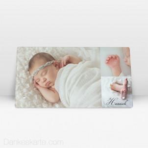 Geburtstafel Lolith aus Echtglas 27.5 x 14.5 cm