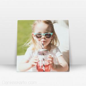 Fotoaufsteller aus Echtglas 20 x 20 cm