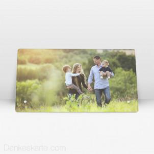 Fotoaufsteller aus Echtglas 27.5 x 14.5 cm