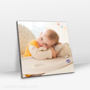Foto auf Echtholz Schwarz 20.4 x 20.4 cm