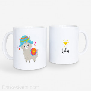Kindertasse Alpaca Sonne 330ml