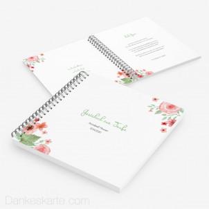 Taufgästebuch Total Floral