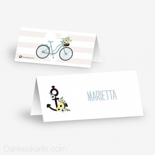 Tischkarte Aufsteller Bicycle Love 10 x 4.5 cm