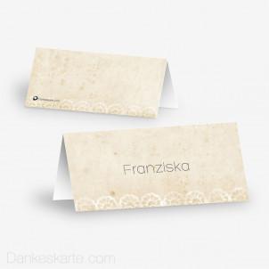 Tischkarte Aufsteller Fancy Lace 10 x 4.5 cm