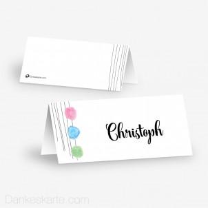 Tischkarte Aufsteller Farbansage 10 x 4.5 cm
